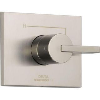 Delta Vero Monitor 14 Series 1 Handle Temperature Control Valve Trim Kit in Stainless (Valve Not Included) T14053 SS