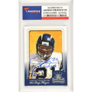 LaDainian Tomlinson San Diego Chargers  Authentic Autographed 2003 Diamond Kings #80 Card with 1,645 Rush YDS. 100 REC 2003 Inscription
