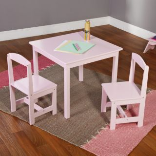 Simple Living Hayden Kids Pink/ White 3 piece Table and Chair Set