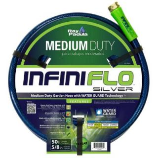 Ray Padula InfiniFlo 3/8 in. Dia x 50 ft. Silver Medium Duty Garden Hose RP IFMD