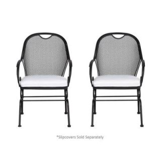 Hampton Bay Vera Patio Dining Chair with Cushion Insert (2 Pack) (Slipcovers Sold Separately) HD14610