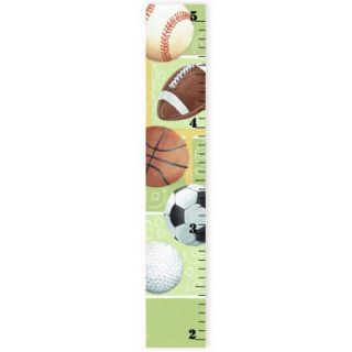 Stupell Industries The Kids Room Sports Ball Growth Chart