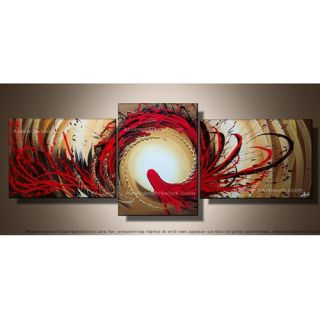 Design Art Modern Abstract 3 Piece Original Painting on Canvas Set in