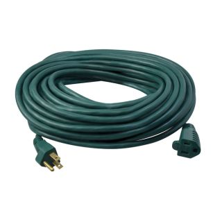 40 SJTW Green Extension Cord