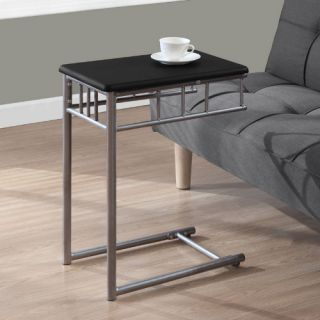Monarch Square Metal Snack Table   Black / Silver   End Tables