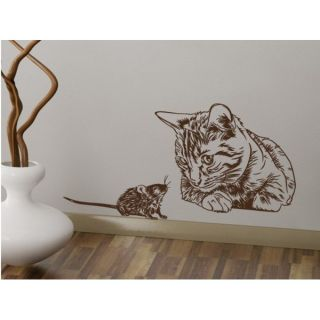 Cat and Mouse Vinyl Sticker Wall Art   17310026