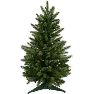 "Pre Lit 24"" x 16"" Frasier Fir Dura Lit Artificial Christmas Tree, Green, Clear Lights"