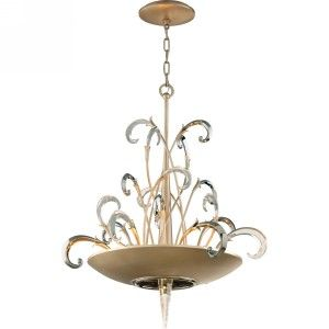 Corbett Lighting COR 156 46 Crescendo Tranquility Silver Leaf  Pendants Lighting