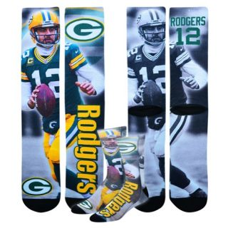 For Bare Feet NFL Sublimated Player Socks   Accessories   Green Bay Packers   Aaron Rodgers   Multi