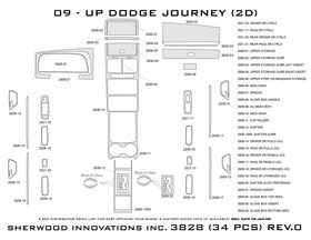 2009, 2010 Dodge Journey Wood Dash Kits   Sherwood Innovations 3828 N50   Sherwood Innovations Dash Kits