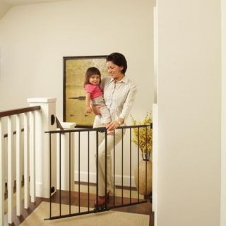 "North States Easy Swing and Lock Gate 28.68"" 47.85"", Top of Stairs Baby Gate, Includes Mounting Kit, Matte Bronze"