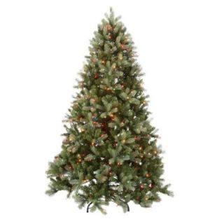 National Tree Company 7.5 ft. Feel Real Downswept Douglas Fir Hinged Tree with 750 Multi Color Lights PEDD1 325 75