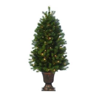 Martha Stewart Living 4 ft. Indoor Pre Lit Downswept Douglas Fir Artificial Christmas Entrance Tree 9318200610