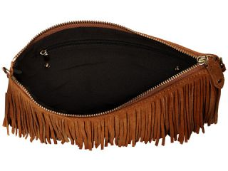 Mighty Purse Fringe X Body Bag Brown Suede Leather, Brown