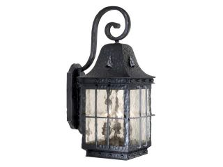 "Vaxcel Edinburgh 9"" Outdoor Wall Light Colonial Iron   ED OWD090CI"