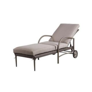 Hampton Bay Posada Patio Chaise Lounge with Gray Cushion 153 120 CL