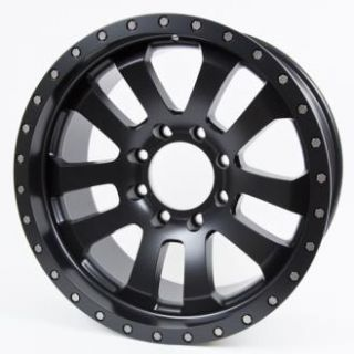 Pro Comp Alloy Wheels   Series 7036, 20X9.5 with 8 on 6.5 Bolt Pattern   Flat Black