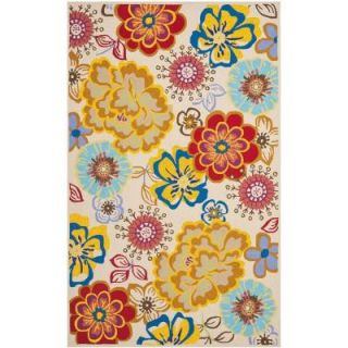 Safavieh Four Seasons Ivory/Multi 4 ft. x 6 ft. Indoor/Outdoor Area Rug FRS467B 46