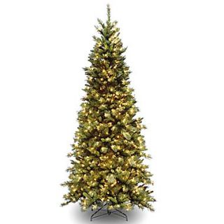 National Tree Co. Tiffany Fir 7.5 Green Artificial Christmas Tree w/ 550 Clear Lights and Stand
