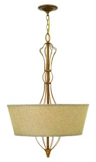 Hinkley Lighting 3084GF Antique Gold Leaf Pendant Light
