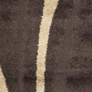 Safavieh Florida Shag Dark Brown & Beige Area Rug