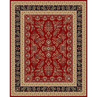 Safavieh Lyndhurst Red and Black Rectangular Indoor Machine Made Area Rug (Common 8 x 10; Actual 96 in W x 132 in L x 0.58 ft Dia)