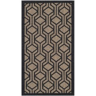 Safavieh Indoor/ Outdoor Courtyard Brown/ Black Rug (27 x 5