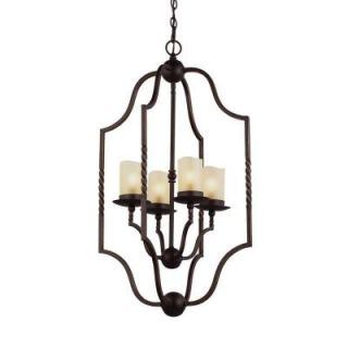 Sea Gull Lighting Trempealeau 4 Light Roman Bronze Indoor Pendant 5110604 191