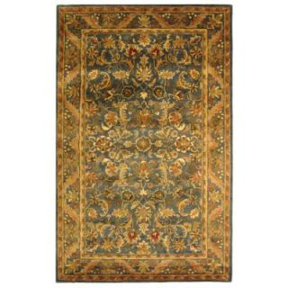 Safavieh Antiquity Blue/Gold 4 ft. x 6 ft. Area Rug AT52C 4