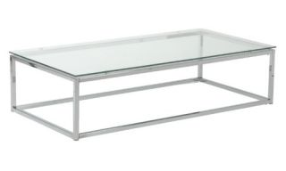 Euro Style Sandor Coffee Table   Clear   Coffee Tables