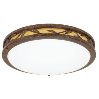 Hampton Bay 2 Light Flush Mount Classic Bronze Ceiling Round Fluorescent Light DISCONTINUED HBF1205P 263