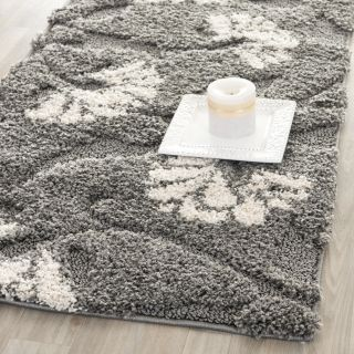 Safavieh Florida Shag Dark Grey/Beige Area Rug