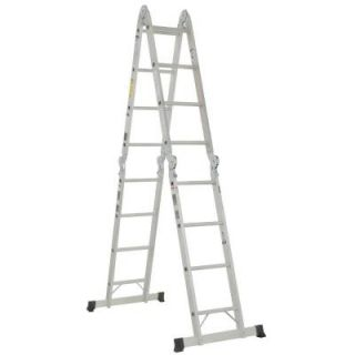 Werner 16 ft. Aluminum Folding Multi Position Ladder with 300 lb. Load Capacity M1A 8 16B