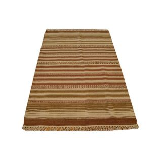 Striped Durie Kilim Flat Weave Wool Area Rug (210 x 5)   16931574