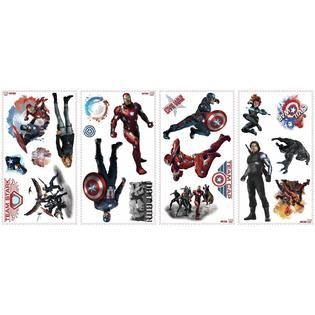 RoomMates Captain America Civil War Peel and Stick Wall Decals   Home