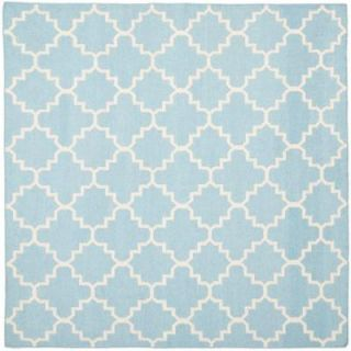 Safavieh Dhurries Light Blue/Ivory 8 ft. x 8 ft. Square Area Rug DHU554B 8SQ