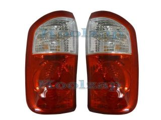 2004 2005 2006 Toyota Tundra 4 Door Double Cab SR5 (Standard Bed CLEAR/RED Lens) Pickup Truck Taillight Taillamp Rear Brake Tail Light Lamp Pair Set Right Passenger AND Left Driver Side (04 05 06)