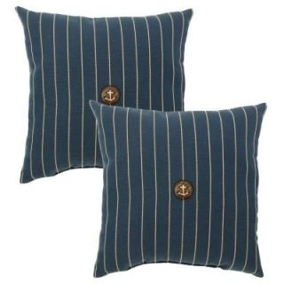 Hampton Bay Midnight Stripe Outdoor Throw Pillow (2 Pack) 7364 02003200