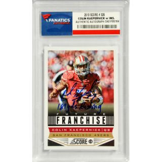Colin Kaepernick San Francisco 49ers  Authentic Autographed 2013 Topps #326 Card with 181 YDS Rushing Inscription