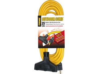 Prime Wire Model EC600825 25 ft. Extra Heavy Duty 25 Foot Outdoor Generator Extension Cord 3 Condu