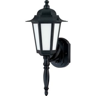 11.57 in H Textured Black Outdoor Wall Light