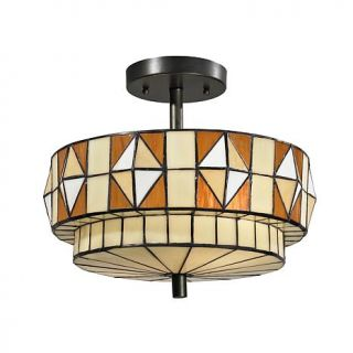 Dale Tiffany Westcott Semi Flush, Ceiling Mounted Lamp   7244863