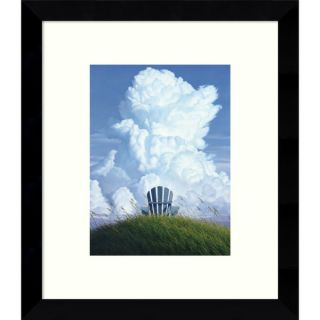 Framed Art Print Watching the Clouds Go By (Floral) by Jennifer