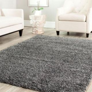 Safavieh California Shag Dark Gray 8 ft. 6 in. x 8 ft. 6 in. Square Area Rug SG151 8484 9SQ
