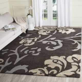 Safavieh Florida Shag Dark Brown/ Smoke Rug (6 x 9)   18644884
