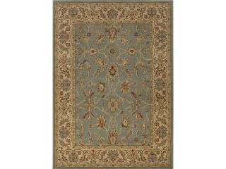 7.85' x 9.85'  Steel Blue, Birchwood, and Cinnamon Noda Classic Wool Area Throw Rug