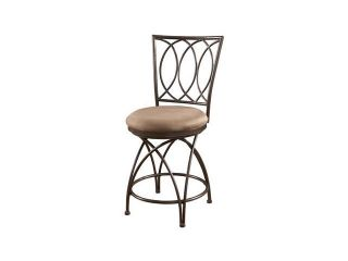Powell Big and Tall Metal Crossed Legs Counter Stool in Bronze  586 918