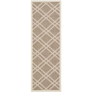 Safavieh Indoor/ Outdoor Courtyard Brown/ Bone Rug (23 x 67