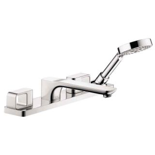 Hansgrohe Axor Urquiola Chrome 2 Handle Fixed Deck Mount Tub Faucet