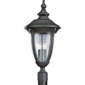 Progress Lighting P5420 31 Meridian Textured Black  Outdoor Post Lights Lighting
